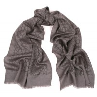 Animal Italian Jacquard Charcoal Grey Scarf