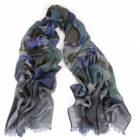 Abstract Pointilist Twilight Blue Scarf