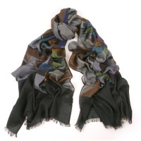 Marilyn Mini Houndstooth Black Multi Scarf
