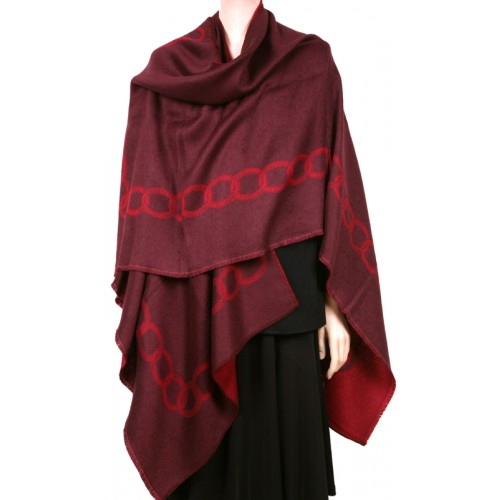 CATENA Chain Link Ruana Cape- Red