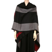 COLORE Colorbloc Ruana Cape Black
