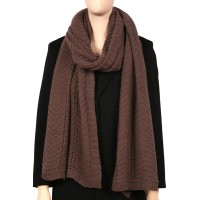 STELLA Crochet Knit Wool and Cashmere Scarf