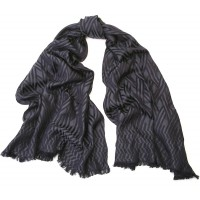 Jacquard Chevron Midnight Blue Scarf