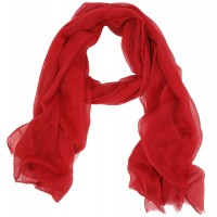 Tatiana Solid Cotton Silk Gauze Red
