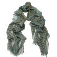 Abstract Print 2 Mineral Green & Blue Scarf