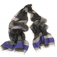Colorbloc Horizontal Lapis Blue Scarf